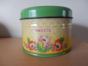 Vintage sweet tin 1950s good condition