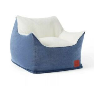 Denim & Sherpa KIDS Bean Bag Chair Blue - Levi's® x Target - READY TO SHIP