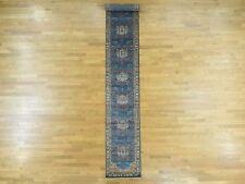"2'7""x15' Antiqued Bakshaish Natural Dyes High KPSI Handmade XL Runner Rug R32905"