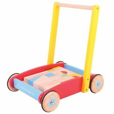 Bigjigs Toys Wooden Baby / Child / Kids Walker with Stacking Blocks