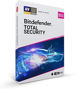 Bitdefender Total Security 2021 - 5 Devices | 1 year Subscription | PC/Mac | by