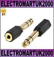 6.35MM STEREO JACK PLUG-3.5MM SOCKET HEADPHONE ADAPTOR
