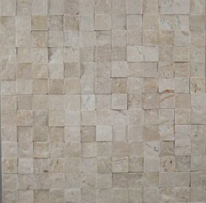 Burdur Beige Marble Split Face Mosaic sheet 305x305,natural stone