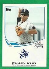 2013 Topps Pro Debut Auto FU-LIN KUO New York Yankees