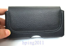 Premium Black PU Leather Pouch for Apple iPhone 5 5G 5S Belt Clip Case Holster