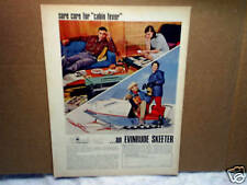 1967 EVINRUDE SKEETER SNOWMOBILE,Cabin Fever,AD PRINT ONLY,man,woman,family