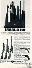 1967 Crosman Merry Christmas CO2 Pellgun & BB Gun Print Ad Barrels of Fun