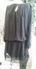 Be Inn Made in Italy womens 50% silk cotton lagenlook  dress size 10/12 (S/M)