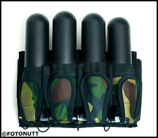 Deluxe woodsball Camo Pack 4+5 Paintball Pod Pack / Harness - comes w/4 Pods New