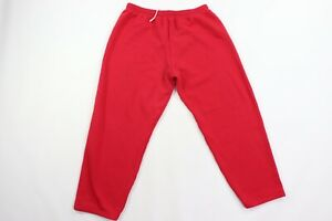 Vintage 90s Streetwear Mens 2XL XXL Blank Sweatpants Joggers Jogger Pants Red