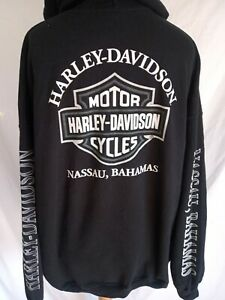 HARLEY DAVIDSON HOODIE SWEATSHIRT 2 XL USA IMPORT RARE AUTHENTIC BACK+ARM PRINT