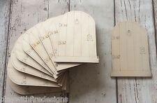 100 laser cut wooden fairy faerie pixie elf doors BULK unpainted