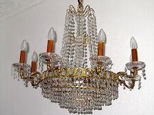 Antik Französische Messing-Bleikristall Kronleuchter, Lüster 12 Flammig