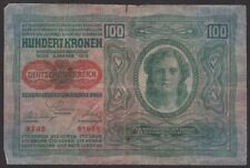 More details for 1912   hungary 100 korona '3742 61865' bank note   bank notes   km coins
