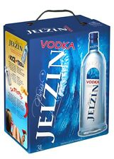 Boris yeltsin vodka 3 litros bag in box, zapfhahan, fiesta, vidrio libre, festival 3,0l