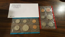 1971 US Coin Mint Set Flatpack 11 Coins 2 Kennedy Half Dollars Free Shipping 200