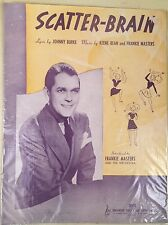 Vintage 1939 Scatter - Brain Sheet Music by Johnny Burke, Keen-Bean, and Masters