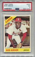 1966 Topps #320 Bob Gibson St Louis Cardinals EX PSA 5