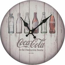 Coca-Cola Contour Bottle Evolution Wall Clock Wood Wall Decor NEW