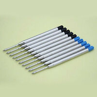 ITS- 10pcs Blue / Black Ink Parker Compatible 0.5mm Ballpoint Pen Refills Latest