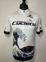 Capo Custom Great Wave Of Kanagawa Maui Cyclery Cycling Shirt Jersey L RARE