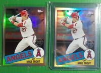 (2) 2020 Topps Chrome Mike Trout 1985 35th anniversary Card 85TC-1