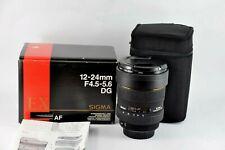 Canon Sigma 12-24mm F/4.5-5.6 EX DG HSM FULL FRAME Boxed UK seller