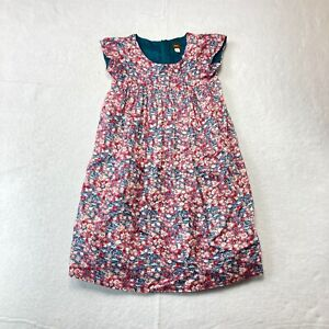 Tea Collection Girls Size 10 Pink/Red/Blue Floral Pattern with Zippered Back