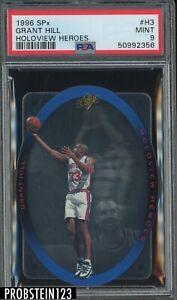 1996 SPx Holoview Heroes #H3 Grant Hill Detroit Pistons PSA 9 MINT