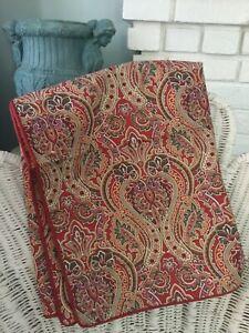 Raymond Waites Set of Two  King Size Cotton Sateen Paisley Pillow Shams