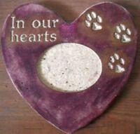 plastic pet memorial mold heart paw print mould  plaster concrete mold