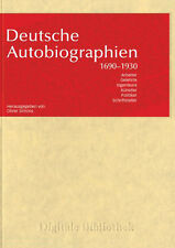 German Autobiographies 1690-1930 CD Digital Library no. 102