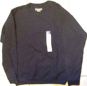 Hanes Boys Comfort Blend Eco Smart Crewneck Sweatshirt BRAND NEW Gray Large