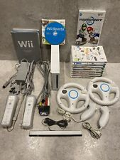 Nintendo Wii Console 10 Game Bundle inc Mario Kart Wii, 2 Wheels & Wii Sports