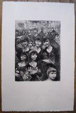 Lithographie, Le Marché aux fleurs et aux oiseaux, Edouard Goerg (1893-1969)