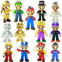 """2019 Gifts High quality Cute Super Mario Bros Luigi Mario Action Figures Toys 5"""""""