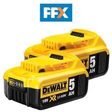 Genuine DeWalt DCB184 18v XR Li-Ion 5.0ah Battery *Twin Pack*