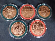 Merry Christmas 1 oz Copper Rounds - Set of 3  (Five designs shown)