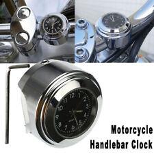 "Motorcycle Handlebar Mount Clock Watch Universal 7/8"" 1"" Waterproof For Honda"