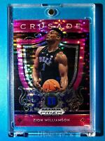 Zion Williamson RARE PINK REFRACTOR ROOKIE PANINI PRIZM DRAFT PICKS CRUSADE RC!