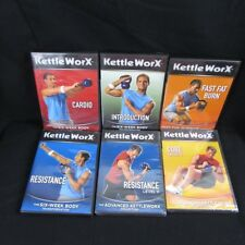 6 Kettle Worx Workout DVDs Kettle Bell Six Week Body Transformation Cardio Core