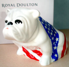 Royal Doulton Bulldog Sam Figurine Dd004 American Flag New In Box