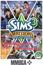 Les Sims 3 Ambitions Pack d'extension Addon PC Origin Download Code - EU & FR