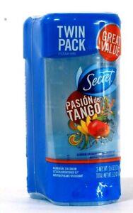 Twin Pack Secret 2.6 Oz Pasion De Tango Clear Gel Antiperspirant Deodorant