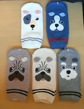 Ladies Dog Socks Brand New Adult Trainer Sock Pair UK Size 2-4 Choose Breed