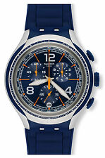 Swatch Irony Xlite Blue Face Dial Silicone Chronograph Men's Watch YYS4015