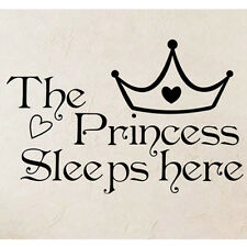 Princess Quote Removable Wall Stickers Decal Art Vinyl Home Bedroom Decor New