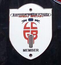 LambrettaClub Great Britain- LCGB'Scooter Logo'LargeMetal Shield