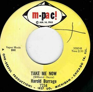 "NORTHERN SOUL - HAROLD BURRAGE - TAKE ME NOW - M-PAC! - ""HEAR"""