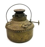 Oil Lantern Lamp Antique Trade Mark Brass and Metal 500 Perfection Wick Vintage